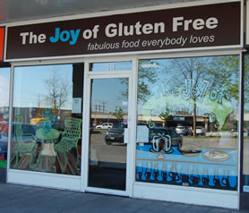 Joy of Gluten Free storefront at Greenbank Hunt Club Centre